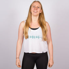 Load image into Gallery viewer, CLASSIC LOGO CROP VEST IN WHITE