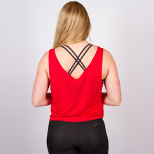 Load image into Gallery viewer, CLASSIC LOGO CROP VEST IN SCARLET RED