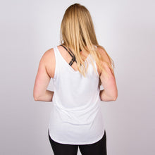Load image into Gallery viewer, CLASSIC LOGO FLOWY VEST IN WHITE