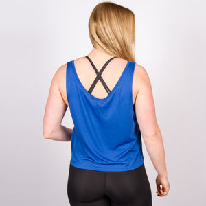 CLASSIC LOGO CROP VEST IN ROYAL BLUE