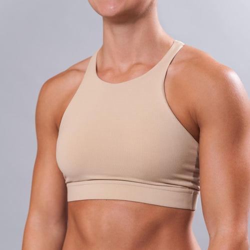 SKY HIGH SPORTS BRA - NUDE
