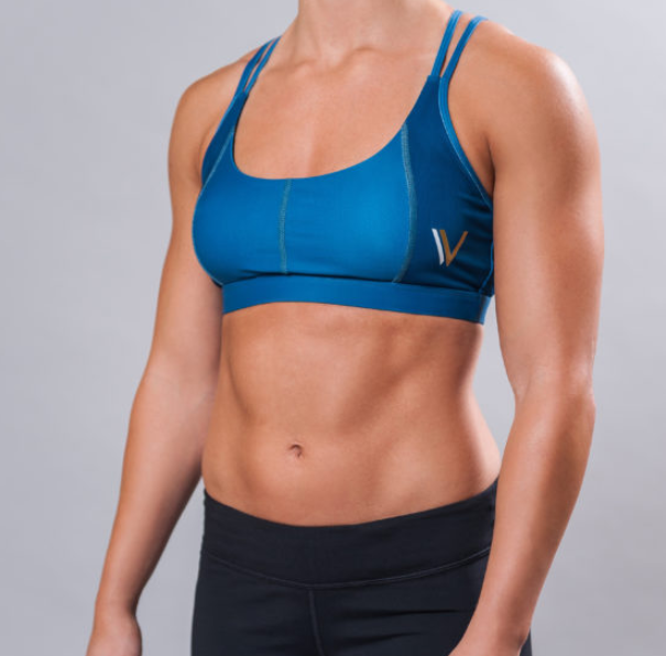 POWER SPORTS BRA - TWO TONE COBALT