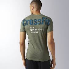 RCF PERFORMANCE BLEND GRAPHIC TEE IN GREEN