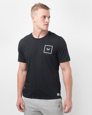 SHIELD TEE IN BLACK