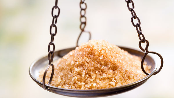 sugar on a weighing scale