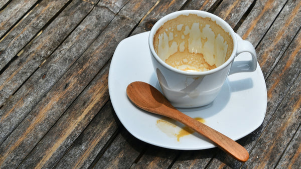 an empty cup of coffee