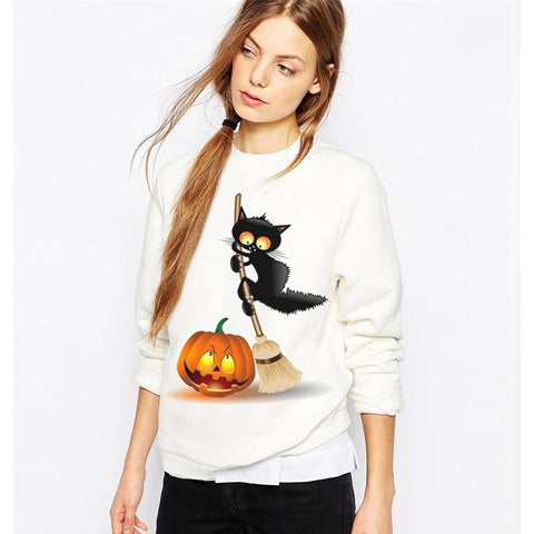 CAT WITCH SWEATSHIRT FOR HER