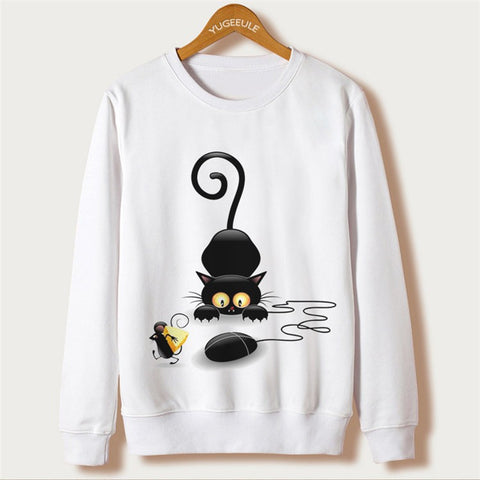 CAT AND MOUSE SWEATSHIRT FOR HER