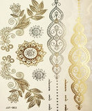 METALLIC TEMPORARY TATTOOS