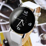 ROUND RETRO LEATHER WATCH