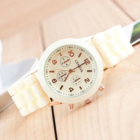 COLORED LEATHER WATCH