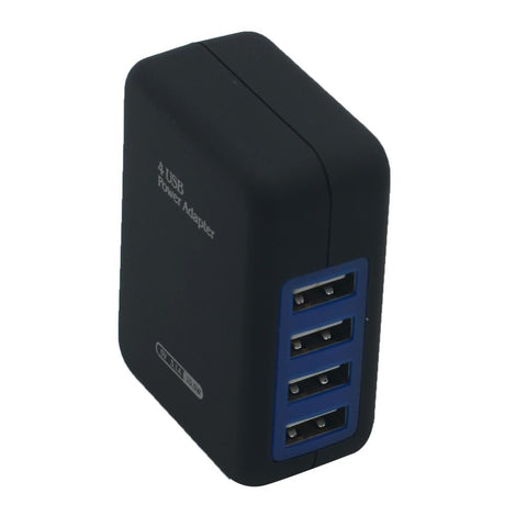 EUROPEAN 4 USB PORT CHARGER PLUG