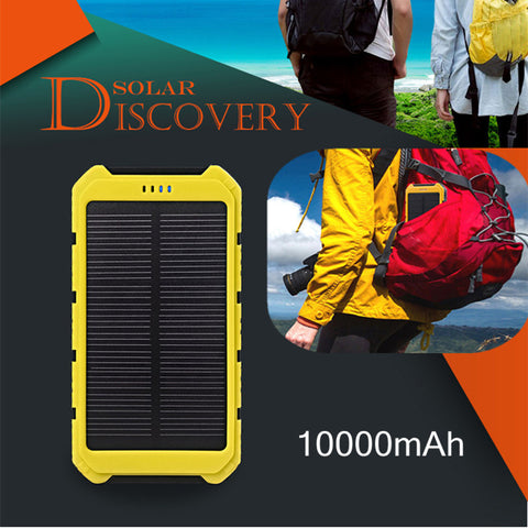 SOLAR POWER BANK DUAL USB