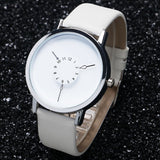 CIRCLE SHRINK LEATHER WATCH