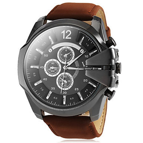 LUXURY DETAILED LEATHER WATCH