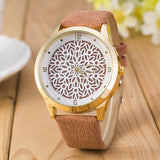 CUT METAL LEATHER WATCH
