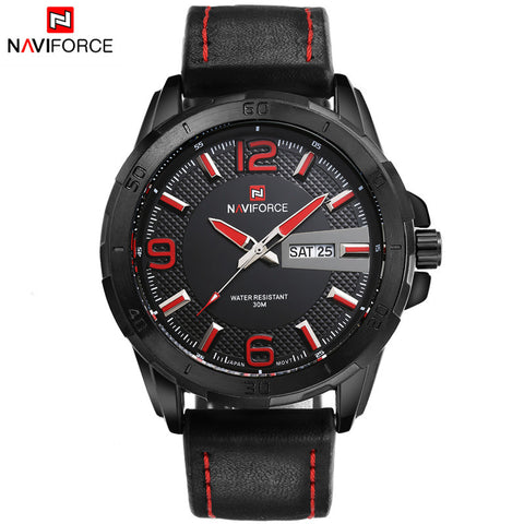 NAVIFORCE LEATHER STRAP SPORT WATCH