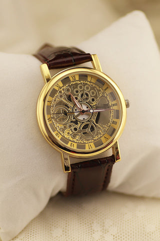 LUXURY GEAR CUT WATCH