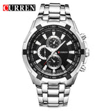 CURREN LUXURY MILITARY STEEL WATCH