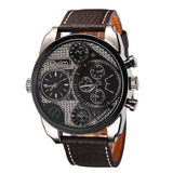 LEATHER STRAP MILITARY WATCH