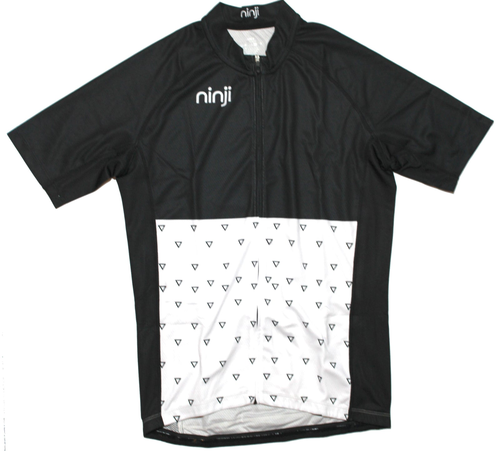 MENS SS JERSEY - HALF WHITE TRIANGLES