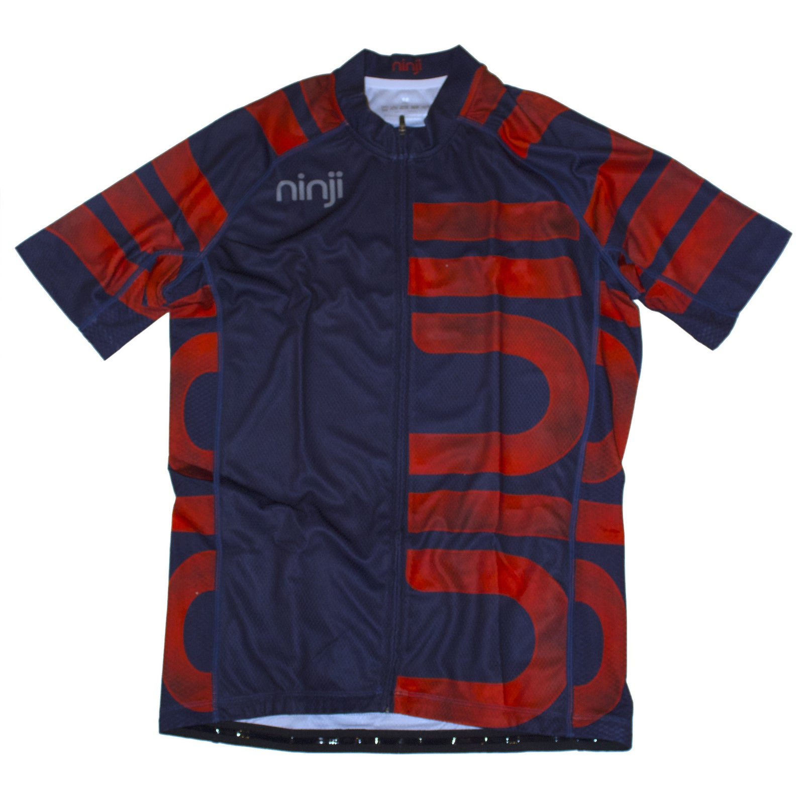 MENS SS JERSEY - NAVY ORANGE LOGO