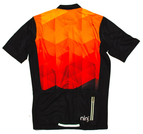 MENS SS JERSEY - YELLOW RED FADE
