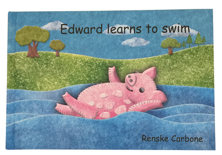 Edward learns to swim book and felt toy