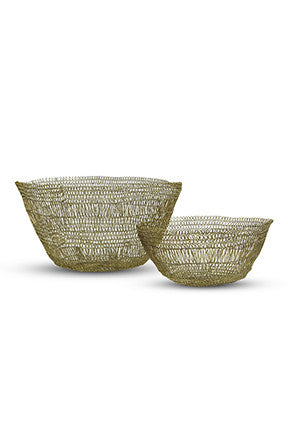 Wire Crochet Bowl Set of 2