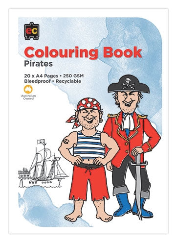 Educational Colours - Pirates Colouring Book