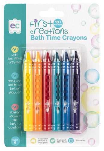 First Creations - Crayons & Chalk - Bath Crayons Set of 6