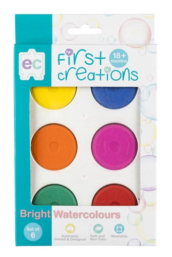 First Creations - Watercolours - Bright Watercolours Set of 6