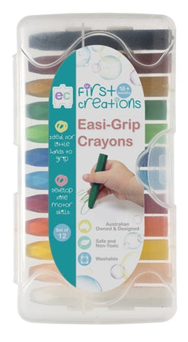 First Creations - Crayons & Chalk - Easi-Grip Crayons Set of 12