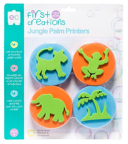 First Creations - Palm Printers - Jungle Palm Printers Set of 4