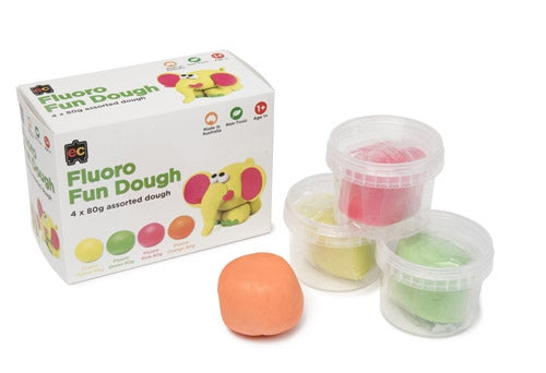 Educational Colours Fluoro Fun Dough Set