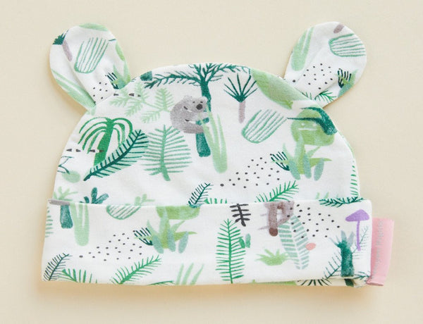Fern Gully Print Baby Hat