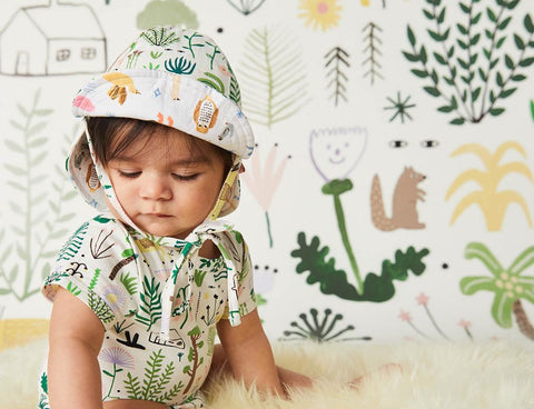 Secret Garden Print - Reversible Sun Hat