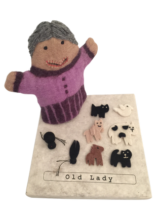 Old Lady who swallowed a fly Puppet