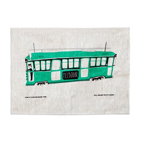 Rumble Tram Tea Towel