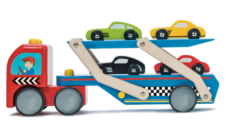 Transporter Wooden Car Set
