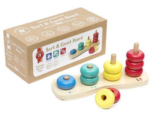 Premium Wooden Toys - Sort and Count Board