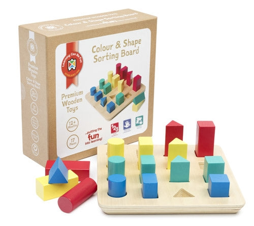 Premium Wooden Toys - Colour and Shape Sorting Board