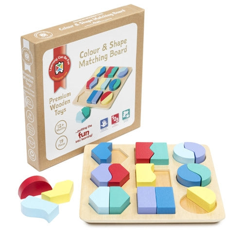 Premium Wooden Toys - Colour and Shape Matching Board