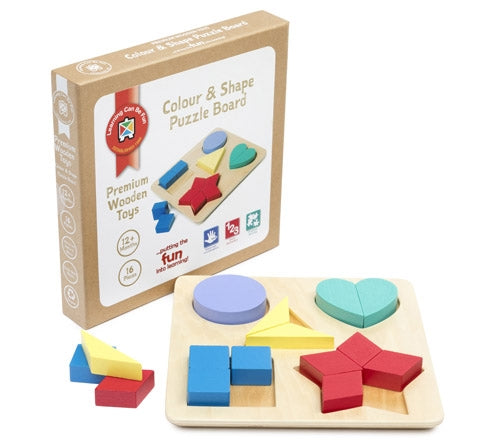Premium Wooden Toys - Colour and Shape Puzzle Board