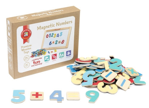 Premium Wooden Toys - Magnetic Numbers Set of 60 pieces