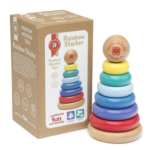Premium Wooden Toys - Rainbow Stacker