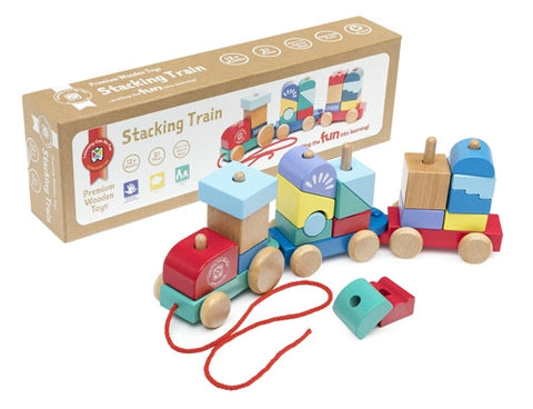 Premium Wooden Toys - Stacking Train