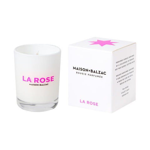 Maison Balzac Large Rose Candle