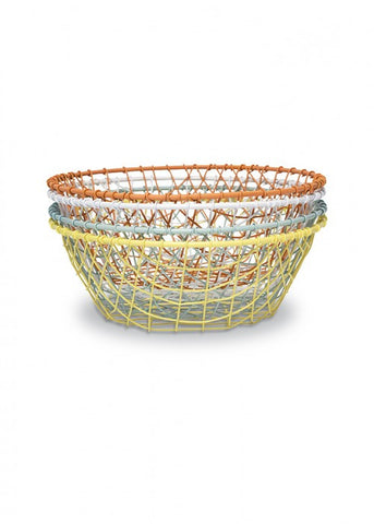 Wire Baskets Set of 4 Colours
