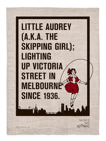 Skipping Girl Tea Towel